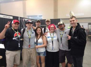 GM Ryan and wife Erika with Brett Weiss/Mojo and Punk Vapor owner at VapeCon Chattanooga 2015 - Mgr Steven Ashburn, wife, and in back Alex Thompson and Trinity Wilmore of DocsVapeEscape